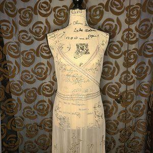 Elegant See-Through Maxi Dress